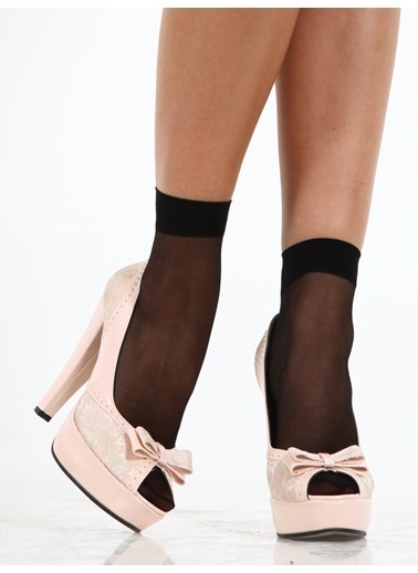Miorre 4 Çift Likralı Soket Çorap Siyah